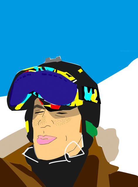 Ilustración Chico Nieve