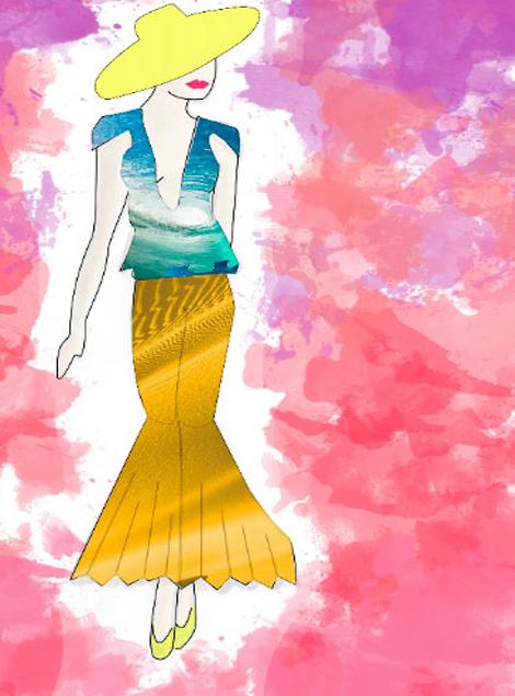 Ilustración Moda Pantalón Tablas
