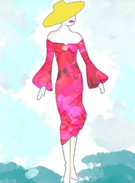 Ilustración Vestido Aire Flamenco