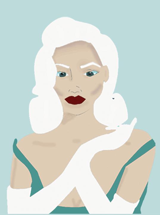 Ilustración mujer pin up